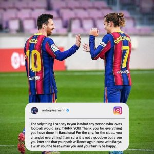Farewell messages to Lionel Messi