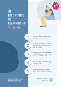 5 importance of Relationship to ladies